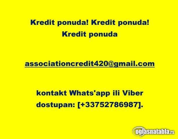Ponuda kredita [associationcredit420@gmail.com]